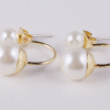 uhani pearl zlati 2